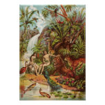 Adam And Eve In The Garden Poster