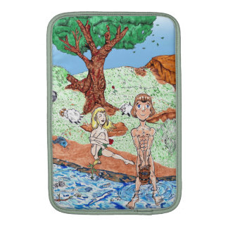 Adam and Eve in the garden. Sleeve For MacBook Air