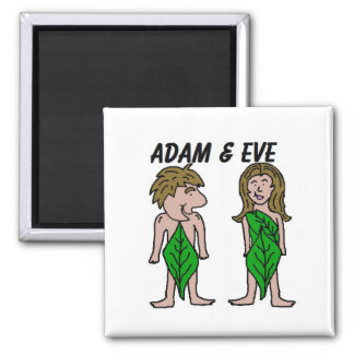Adam and Eve Fridge Magnets