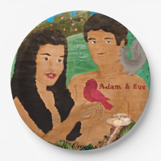 Adam and Eve Paper Plates 9 Inch Paper Plate