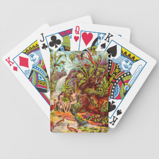 Adam and Eve playing cards