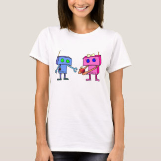 Adam and Eve Robots 2012 baby doll T-Shirt