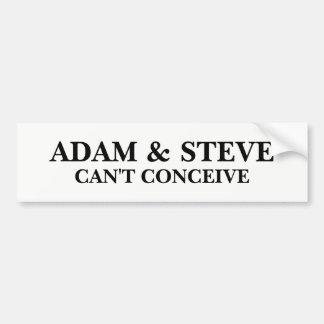 Adam and Steve Bumper Sticker