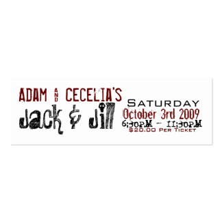 Adam & Cecelia Jack & Jill Pack Of Skinny Business Cards