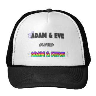 Adam Eve Adam Steve Hats