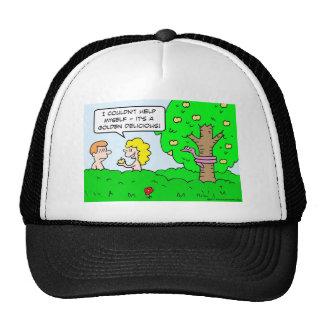 adam eve apple golden delicious hats