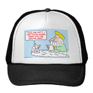 adam eve dualism mesh hats