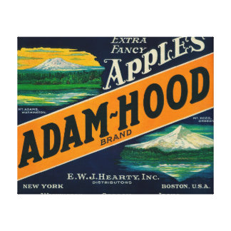 Adam-Hood Apple Crate LabelHood River, OR Canvas Print