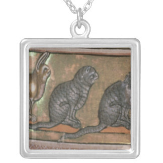 Adam naming the animals, of North Midlands Silver Plated Necklace