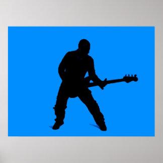 Adam on bass guitar poster