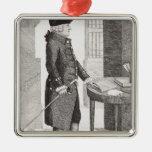 Adam Smith Silver-Colored Square Decoration