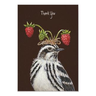 Adam thank you flat card 9 cm x 13 cm invitation card