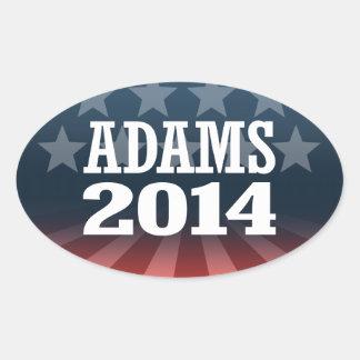 ADAMS 2014 OVAL STICKER