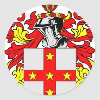 Adams (English) Coat of Arms Classic Round Sticker