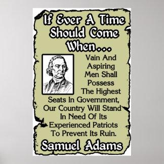 Adams: Experienced Patriots Poster