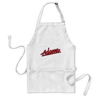 Adams in red aprons
