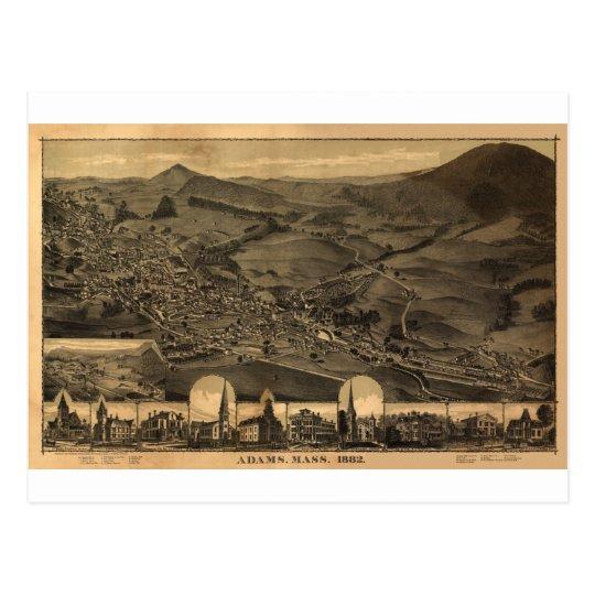 Adams, Massachusetts in 1882 Postcard