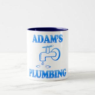 Adam's Plumbing Two-Tone Coffee Mug