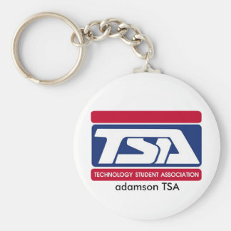 adamson tsa basic round button key ring