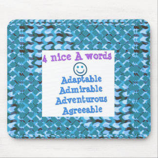 ADAPTABLE Agreeable Admirable - LOWPRICE GIFTS Mouse Pad