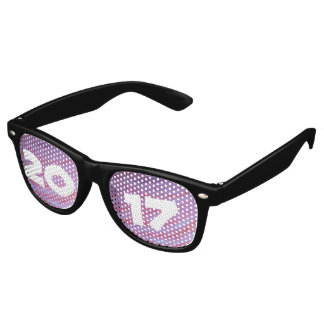Adaptable Grad   Name Year Pink Purple Zebra Gift Retro Sunglasses
