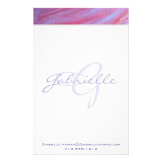 Adaptable Office | Name Chic Pink Purple Zebra | Stationery