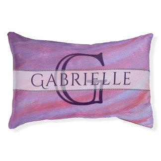 Adaptable Pet | Name Pink Purple Cute Zebra | Chic Pet Bed