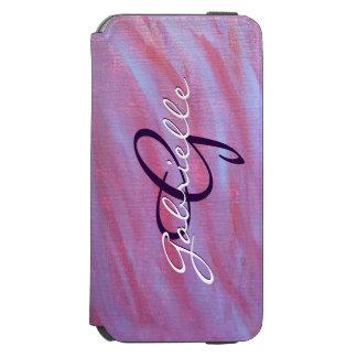 Adaptable Tech   Name Pink Purple Zebra   Chic Incipio Watson™ iPhone 6 Wallet Case