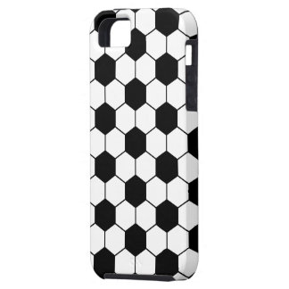 Adapted Soccer Ball pattern Black White iPhone 5 Cover