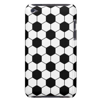 Adapted Soccer Ball pattern Black White Barely There iPod Cover