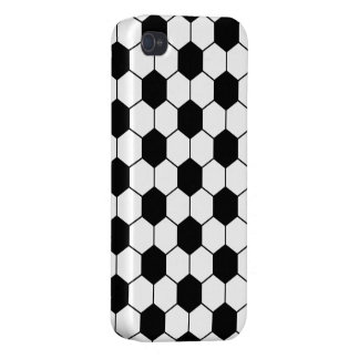 Adapted Soccer Ball pattern Black White Covers For iPhone 4