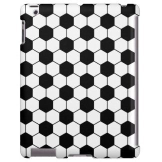 Adapted Soccer Ball pattern Black White iPad Case