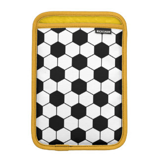 Adapted Soccer Ball pattern Black White iPad Mini Sleeves