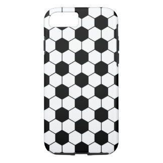 Adapted Soccer Ball pattern Black White iPhone 7 Case