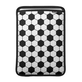 Adapted Soccer Ball pattern Black White MacBook Air Sleeves