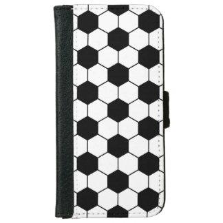 Adapted Soccer Ball pattern Black White iPhone 6 Wallet Case