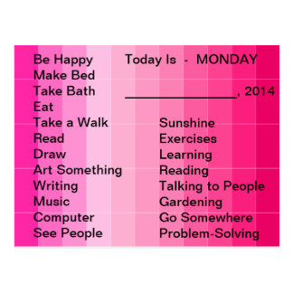 Adaptive Living Tools Daily List To Do Card Monday