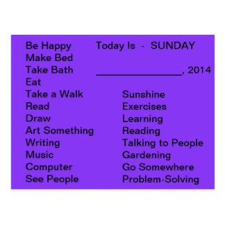 Adaptive Living Tools Daily List To Do Card Sunday Postcard