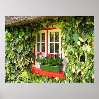 Adare Window Vines Print