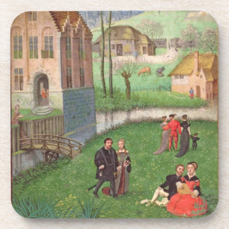 Add 18855 April: courting couples, from a Book of Drink Coaster