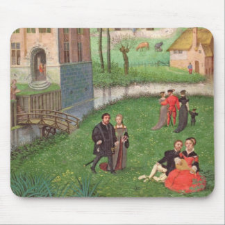 Add 18855 April: courting couples, from a Book of Mouse Pad