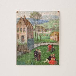 Add 18855 April: courting couples, from a Book of Puzzles
