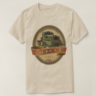 Add A Date Vintage Truck Label Value TShirt