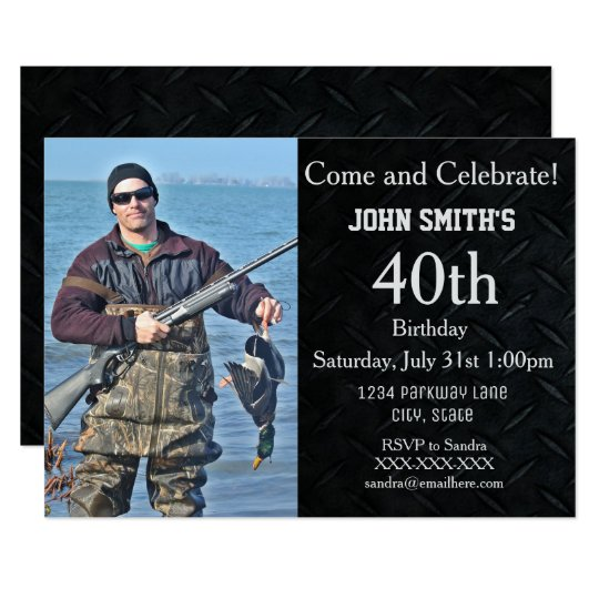 Add A Hunting or Hobby Photo Men's Birthday