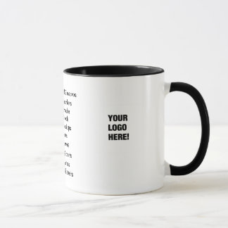 Add A Logo - I Love Spreadsheets - Reasons Why! Mug