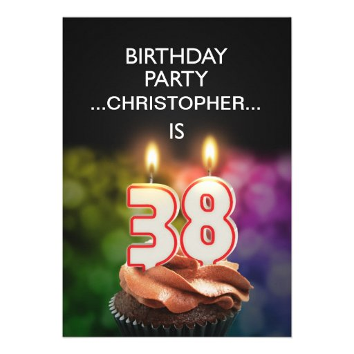 Add a name, 38th Birthday party Invitation