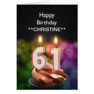 Add a name, 61st birthday card