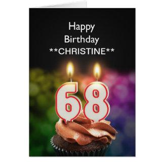 Add a name, 68th birthday card