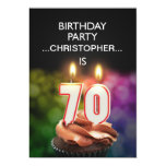 Add a name, 70th Birthday party Invitation