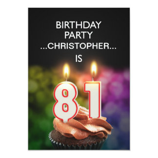 Add a name, 81st Birthday party Invitation